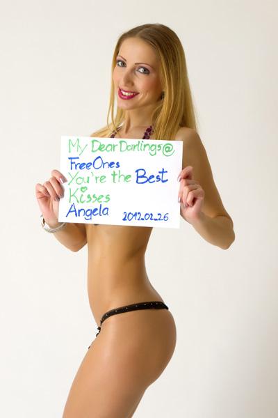 Angela Blanche Fan Sign