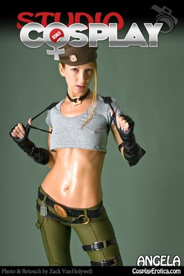 Cosplay Erotica Sonya Blade with Angela Blanche