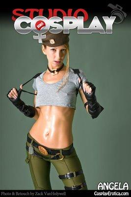 Cosplay Erotica Sonya Blade with Angela Blanche