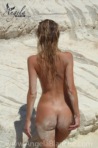 Angela Blanche - Naked on the Beach I